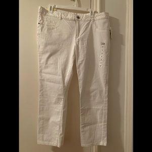 NWT Joe's white Jean Capri pants